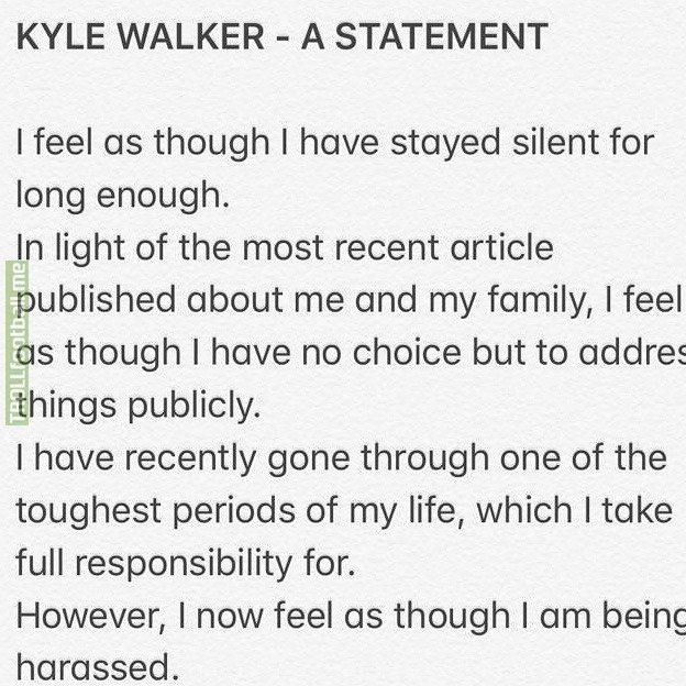 Kyle Walker's post about breaking quarantine on Instagram