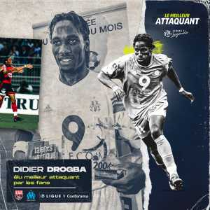 Drogba elected 'best Ligue 1 forward of these past 20 years', ahead of Ibrahimović