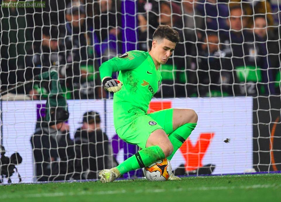 One year ago today, Kepa Arrizabalaga made this great save against Eintracht Frankfurt to help Chelsea reach the Europa League final.