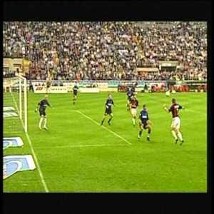 On this day, in 2001: Inter 0-6 AC Milan (Comandini 2', 19'; Giunti 53'; Shevchenko 67', 78'; Serginho 81'). The Rossoneri, coached by Cesare Maldini, record the biggest win in the history of the Derby della Madonnina.