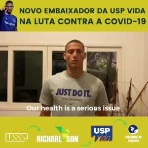 Richarlison is working as a science ambassador in Brasil, raising awareness to the importance of science and research (which are being marginalised here) in the context of the pandemic.