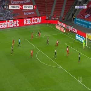 Bayer Leverkusen 0-3 Wolfsburg - Renato Steffen 67'