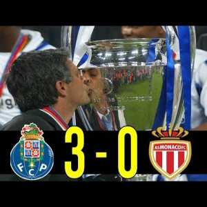 On this day in 2004 Porto beat Monaco 3-0 to win their second Champions League