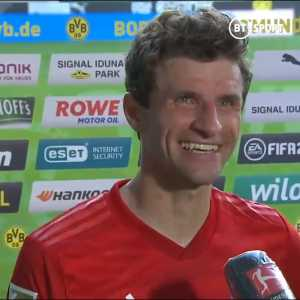 Thomas Müller on Alphonso Davies recovery against Halaand