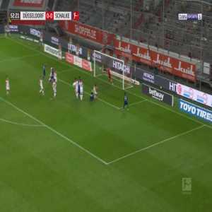 Dusseldorf 0-1 Schalke - Weston McKennie 53'