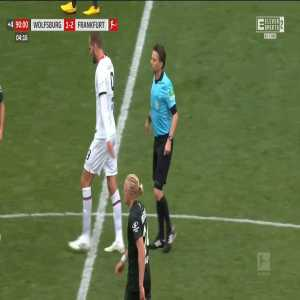 Lucas Torró (Eintracht Frankfurt) second yellow card vs. Wolfsburg (90+5')