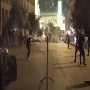 Sick volley during Lebanese protests