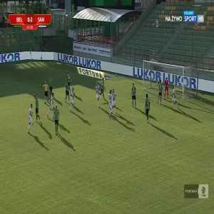 GKS Bełchatów 0-3 Sandecja Nowy Sącz - Maciej Małkowski PK 44' (Polish I liga)