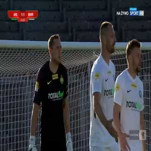 GKS Jastrzębie [1]-1 Warta Poznań - Petr Galuška 41' handball goal (Polish I liga)