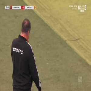 Hannover 2-0 Dynamo Dresden - John Guidetti 17'