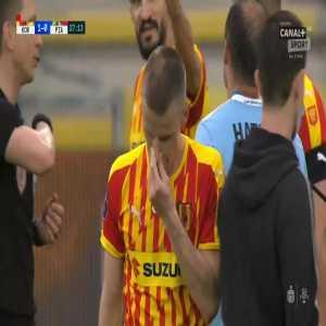 Jakub Żubrowski (Korona Kielce) second yellow card vs. Piast Gliwice (27', Polish Ekstraklasa)