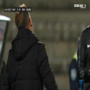 Ali Elmusrati (Rio Ave) second yellow card against Benfica 62'