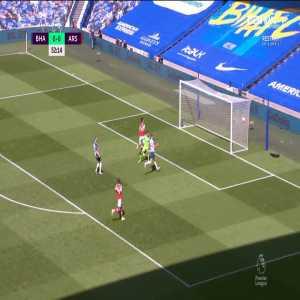 Brighton 0 - [1] Arsenal - Aubameyang 53'