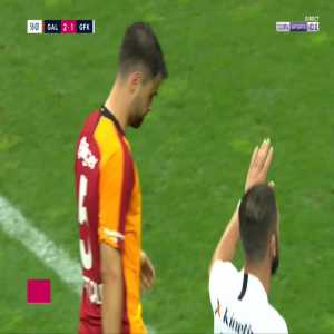 Ahmet Yilmaz Calik (Galatasaray) straight red card against Gaziantep 55'