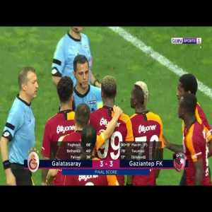 Crazy scenes in the final minutes between Galatasaray and Gaziantep