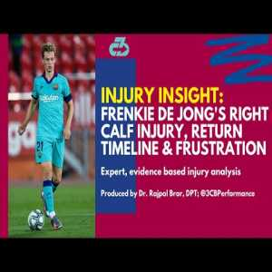 Detailing Frenkie de Jong's right calf soleus injury, return timeline, & reported frustration with the Barca medical staff