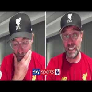 Jurgen Klopp's emotional reaction to Liverpool winning the Premier League 🏆
