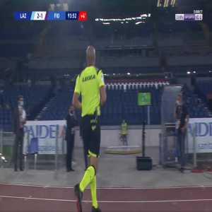 Dusan Vlahovic (Fiorentina) straight red card against Lazio 90'+5'