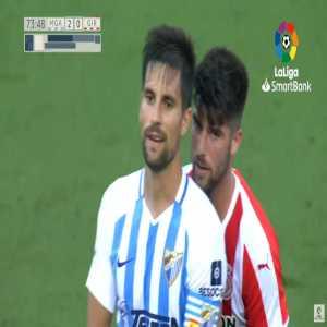 Adrian (Malaga) straight red card against Girona 74'