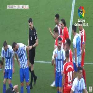 Cristian Rivera (Girona) straight red card against Malaga 22'