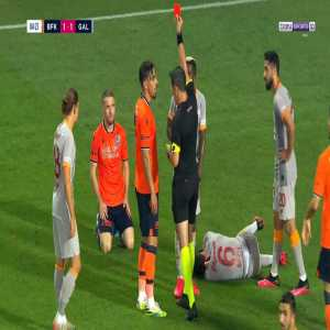 Edin Visca (Basaksehir) second yellow card against Galatasaray 85'