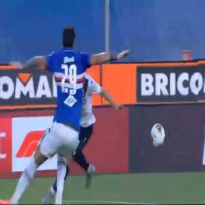 Sampdoria 0-1 Bologna - Musa Barrow penalty 72'