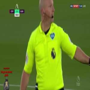 Crystal Palace Vs Burnley - Jordan Ayew VAR Red Card Check (No Red Shown)
