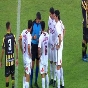 Egídio (Fluminense) red card versus Volta Redonda in the RJ State Championship first match post pandemic.
