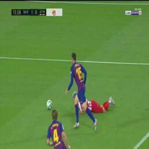 Barcelona 1-[1] Atletico Madrid: Saul penalty goal 19'