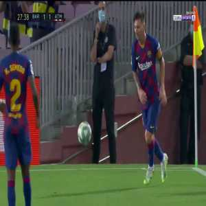 FC Barcelona 1 - 1 Atlético Madrid - Lodi tackle attempt on Messi 27'