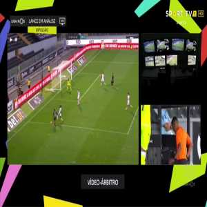 Helder Guedes (Vitoria Setubal) straight red card against Vitoria Guimaraes 90'+2'