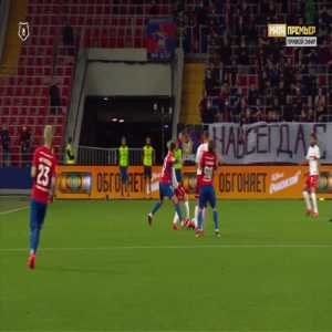 Roman Zobnin (Spartak Moscow) straight red card against CSKA Moscow 77'