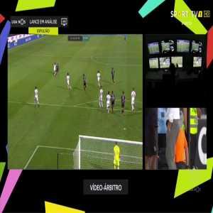 Silvio (Vitoria Setubal) straight red card against Vitoria Guimaraes 90'+5'