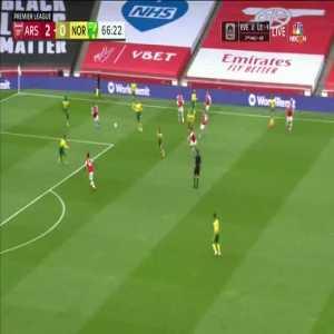 Arsenal 3-0 Norwich City: Pierre-Emerick Aubameyang goal 67'