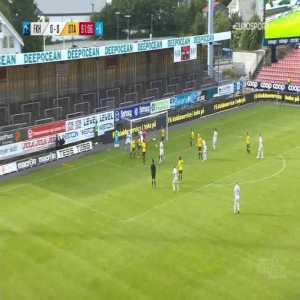 Haugesund 1-0 Start - Jesper Daland OG 90+2'