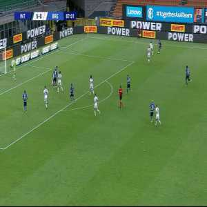 Internazionale 6-0 Brescia: Antonio Candreva goal 87'