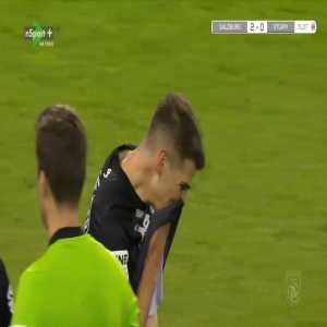 Ivan Ljubić (Sturm Graz) second yellow card vs. Red Bull Salzburg (72')