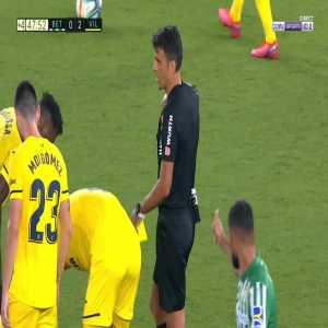 Nabil Fekir (Betis) second yellow card against Villarreal 45'+3'