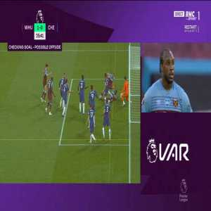 Soucek (West Ham) disallowed goal for offside (VAR analysis)