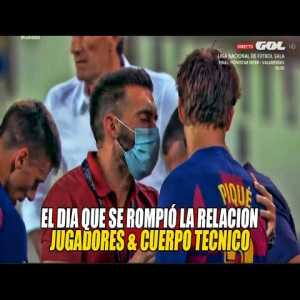 The origin of the conflict between players and coaching staff at Barca.