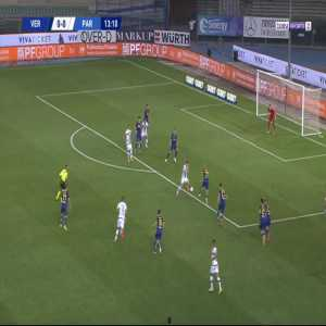 Verona 0-1 Parma - Dejan Kulusevski 14'
