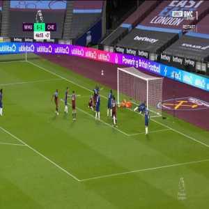 West Ham [1] - 1 Chelsea - Soucek 45+2'