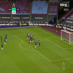 West Ham 2 - [2] Chelsea - Willian Free-kick 71'