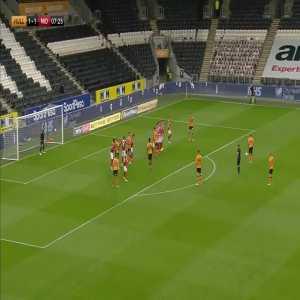Hull City [1]-1 Middlesbrough - Herbie Kane free-kick 8'