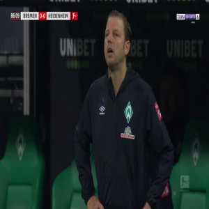 Niklas Moisander (Bremen) second yellow card against Heidenheim 86'