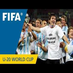 On this day in 2005 Argentina won the u20 world cup by beating Nigeria 2-1 with two Messi penalties