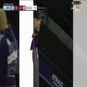 Riyad Mahrez disallowed Goal vs Liverpool 95'