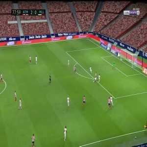 Atletico Madrid 3-0 Mallorca: Koke goal 78'