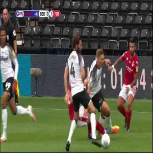 Derby County 0-1 Nottingham Forest - Waghorn red card