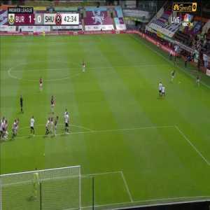 Burnley 1-0 Sheffield United - James Tarkowski Goal